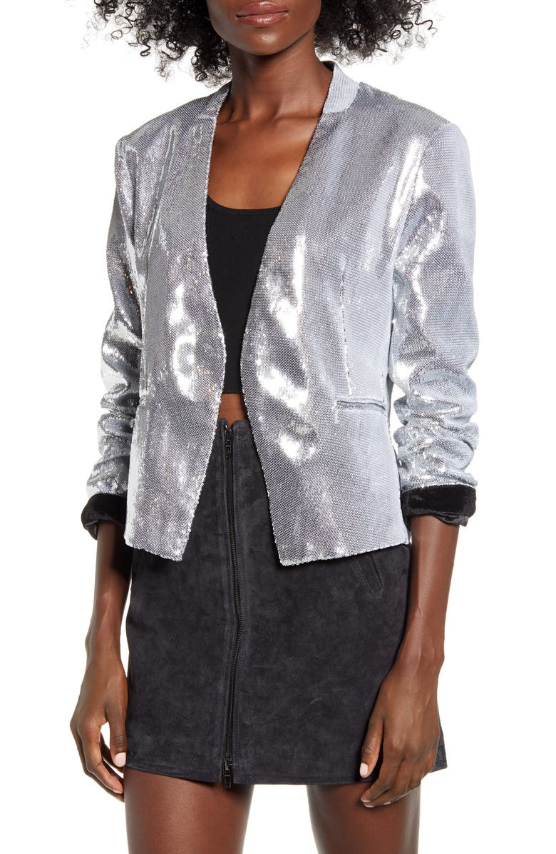 BLANKNYC Sequin Blazer, Main, color, ASTROLOGY