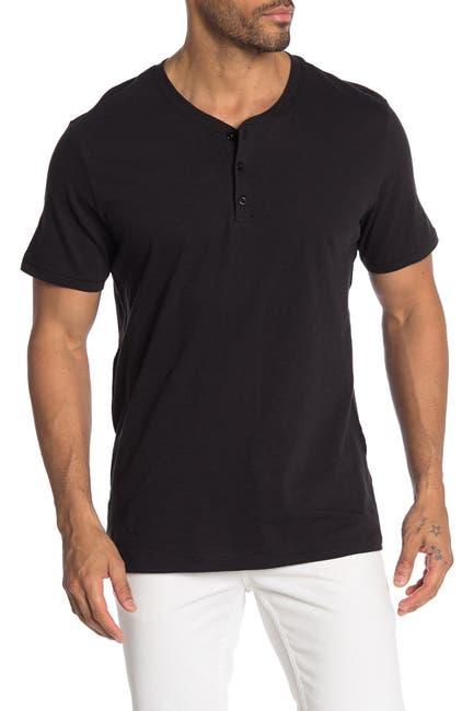 Image of Public Opinion Short Sleeve Henley Shirt