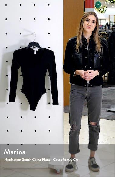 Deep V-Neck Long Sleeve Bodysuit, sales video thumbnail