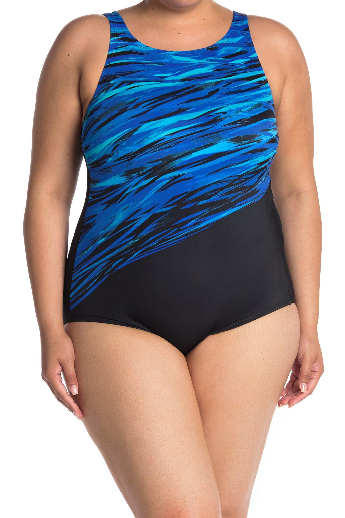 Image of Reebok Printed One-Piece Swimsuit