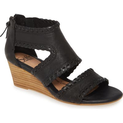 Sofft Madison Wedge Sandal, Black