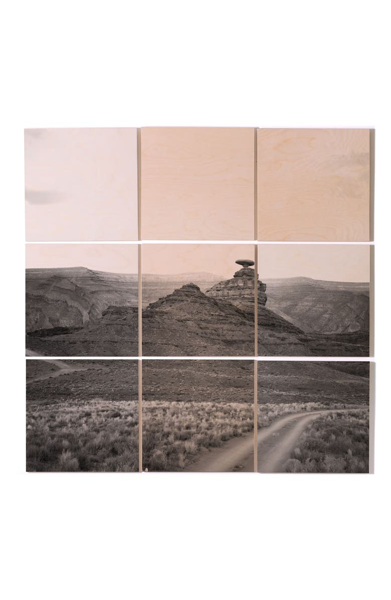 DENY DESIGNS Catherine McDonald Southwest 9-Piece Wall Mural, Main, color, GREY