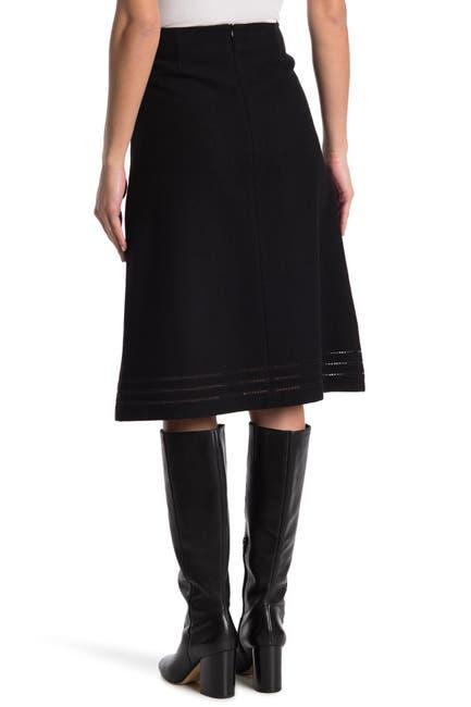 Image of RED Valentino Geo Inset Skirt