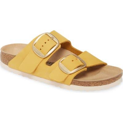 Birkenstock Arizona Big Buckle Slide Sandal,8.5 B - Yellow