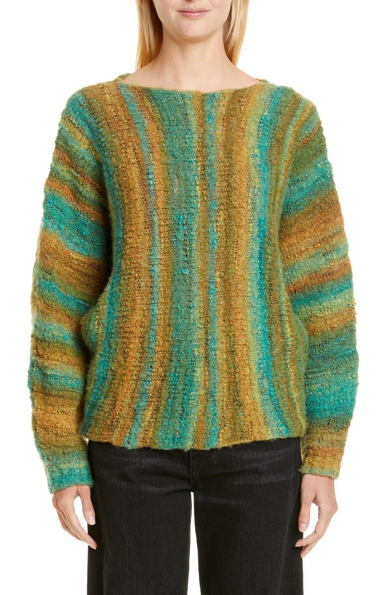 SIMON MILLER Romo Bouclé Wool Blend Sweater, Main, color, FOREST