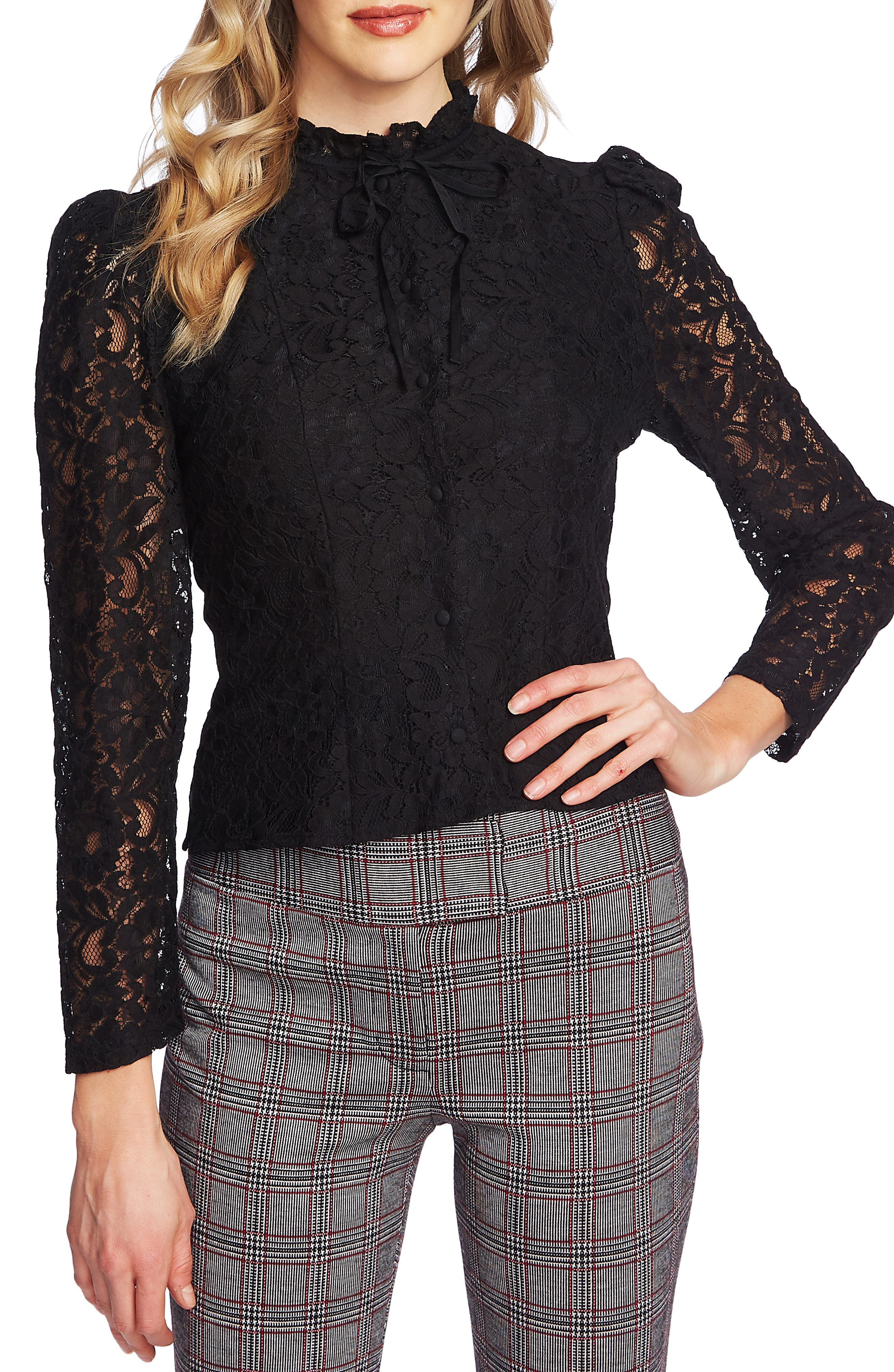 1890s-1900s Fashion, Clothing, Costumes Womens Cece Floral Lace Blouse $99.00 AT vintagedancer.com