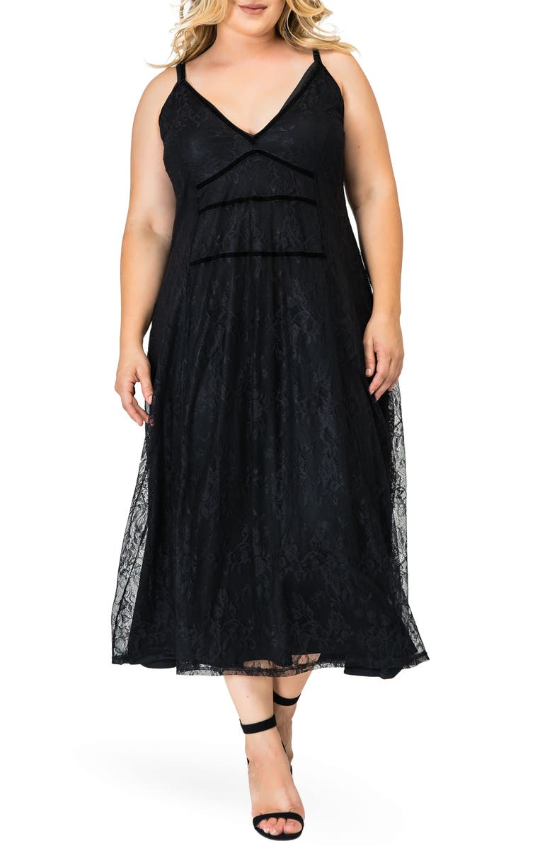 STANDARDS & PRACTICES Bethany Lace Maxi Dress, Main, color, BLACK