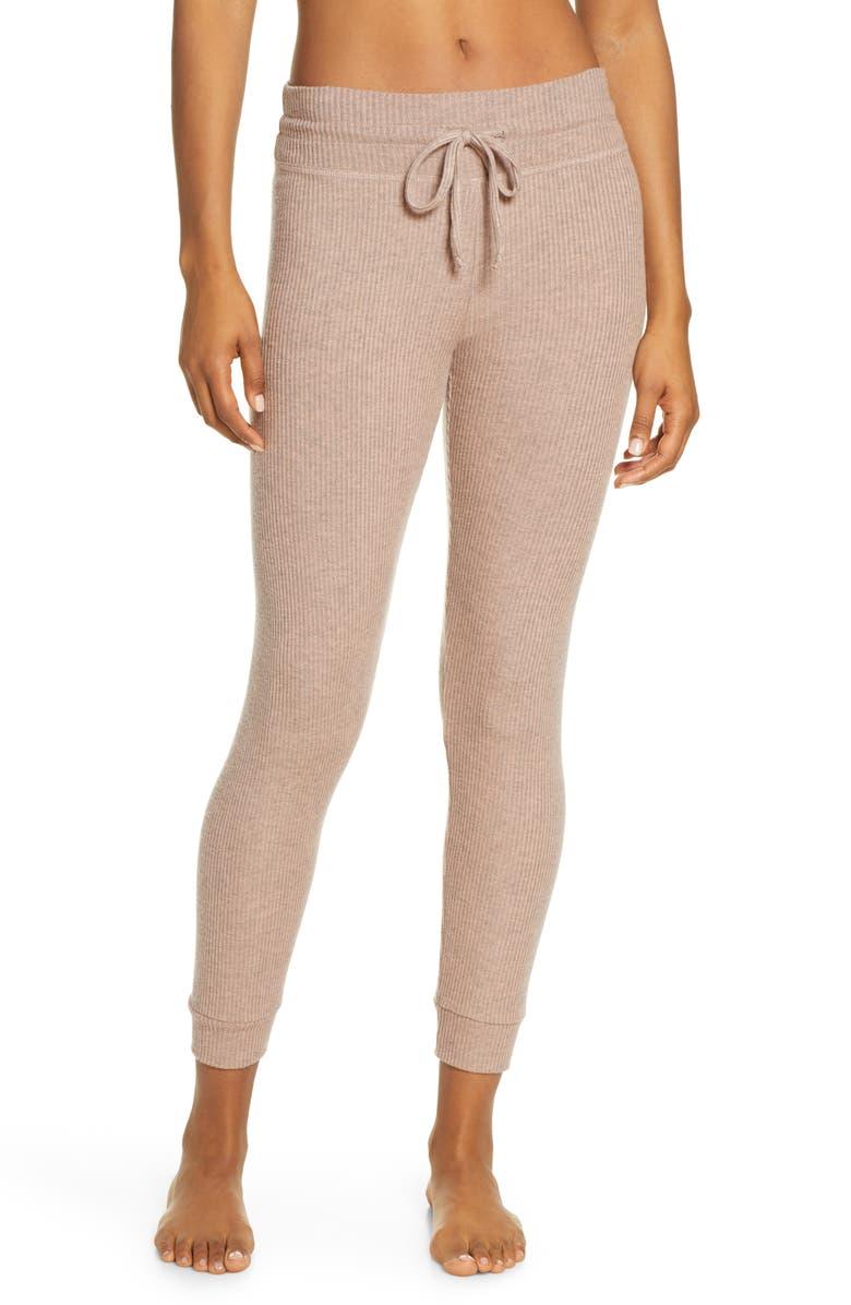 BEYOND YOGA Brushed Up Lounge Around Midi Yoga Pants, Main, color, TINTED ROSE HEATHER