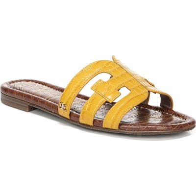Sam Edelman Bay Cutout Slide Sandal, Yellow