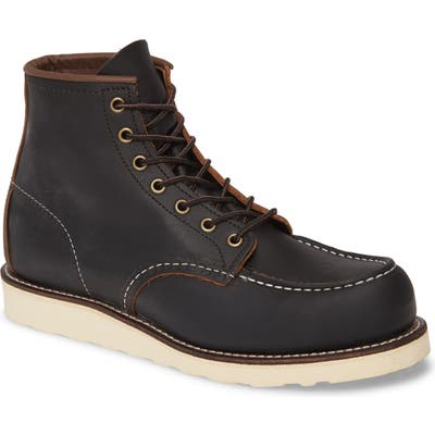 Red Wing 6 Inch Moc Toe Boot - Black