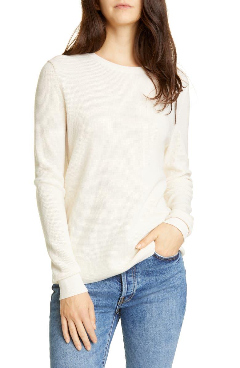 JENNI KAYNE Merino Wool Crewneck Sweater, Main, color, IVORY