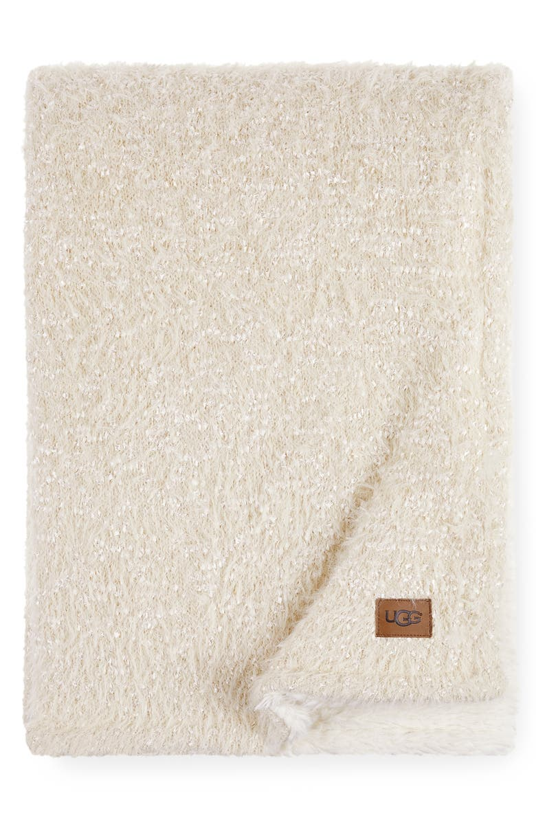 UGG<SUP>®</SUP> Stilson Knit Throw, Main, color, SNOW