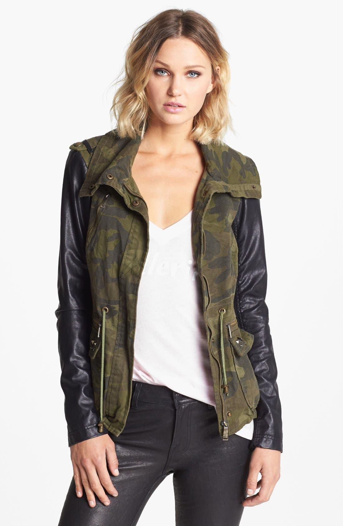 Mixed Media Jacket, Main, color, 300