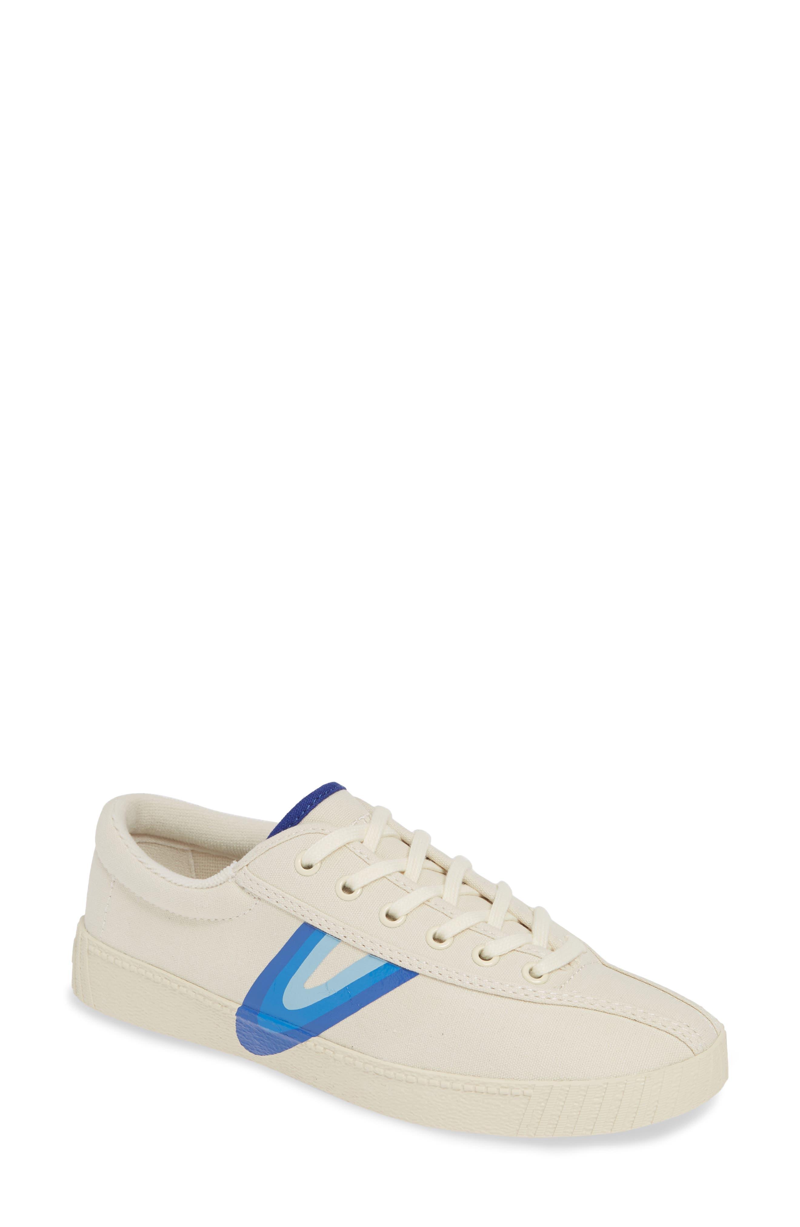 Nylite Sneaker, Main, color, CREAM/ BLUE VIOLET
