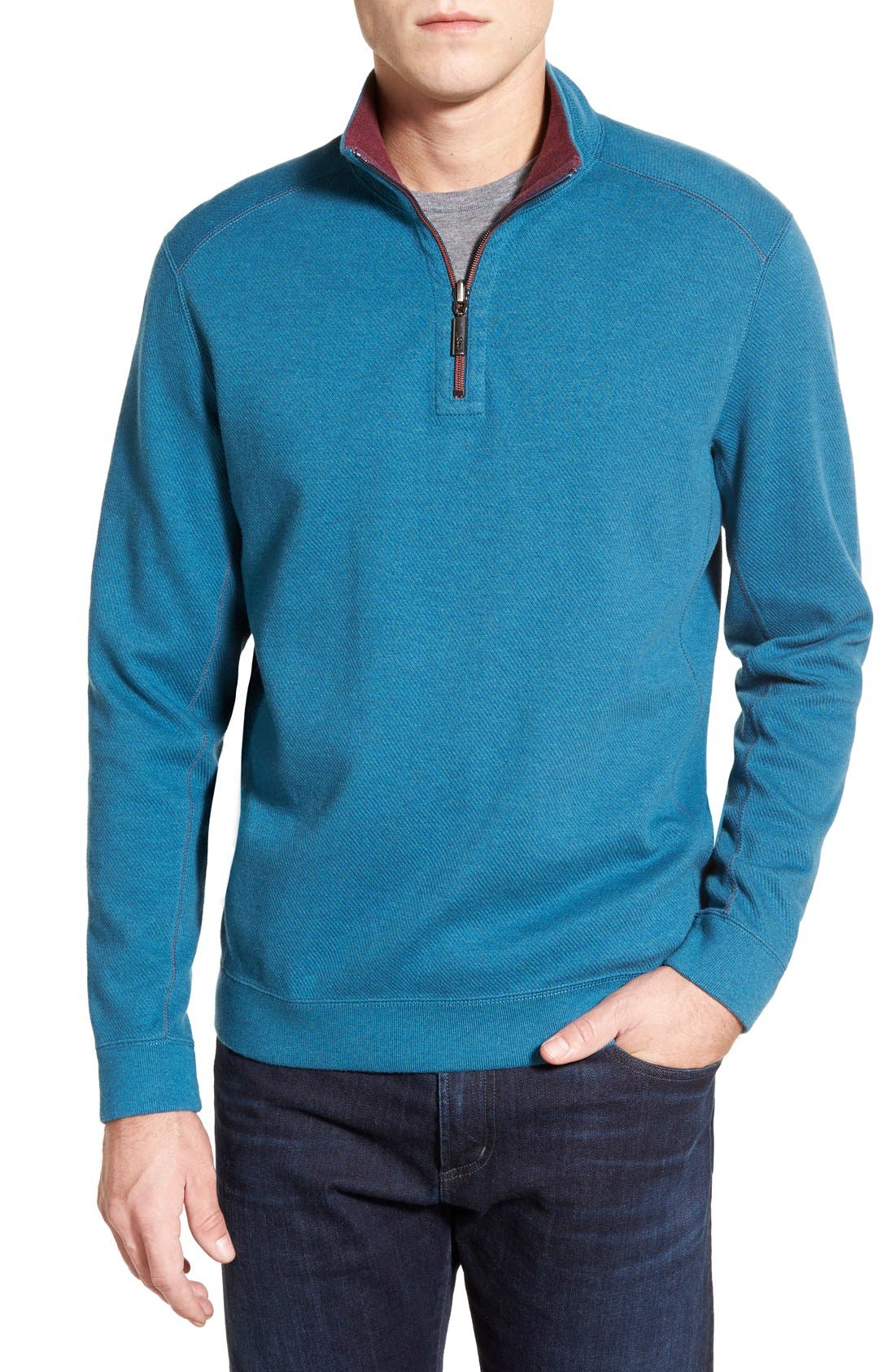 ,                             'Flip Side' Reversible Quarter Zip Pullover,                             Main thumbnail 6, color,                             001