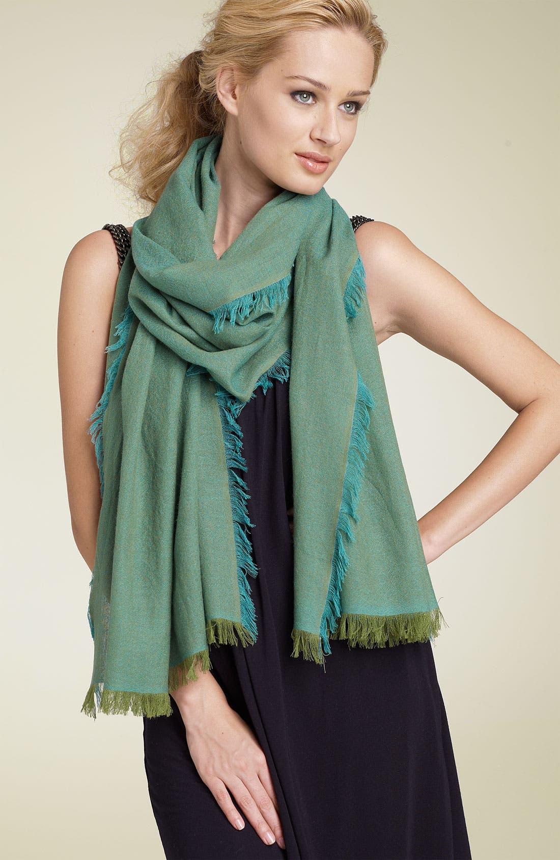 ,                             'Eyelash' Colorblock Cashmere Wrap,                             Main thumbnail 46, color,                             441