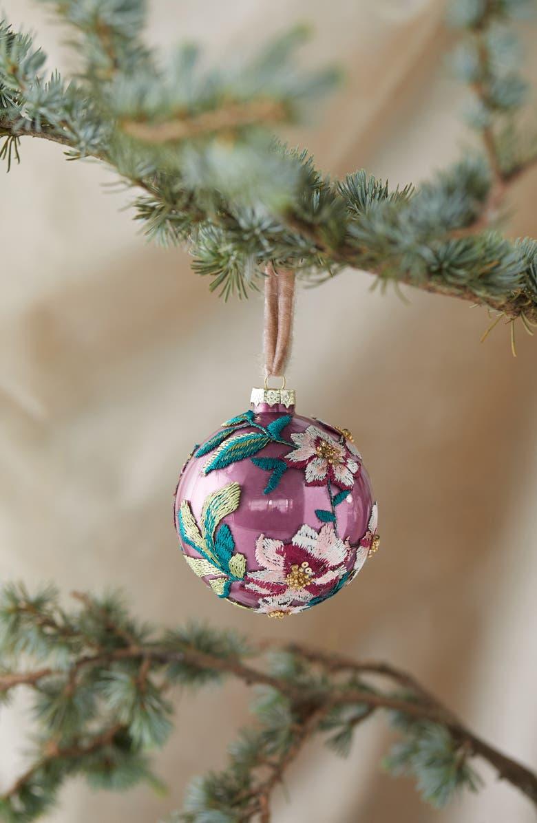 TERRAIN Orn Bauble Appliquéd Ornament, Main, color, PURPLE