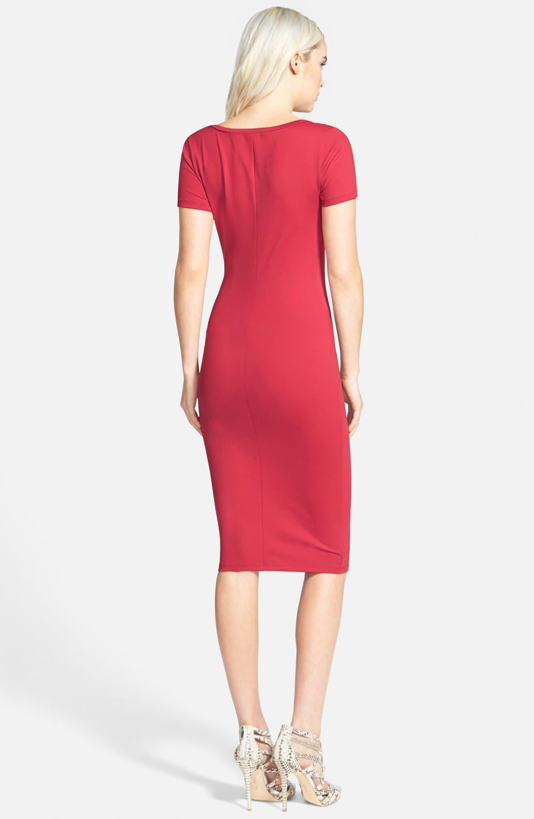 ,                             V-Neck Body-Con Dress,                             Alternate thumbnail 24, color,                             600