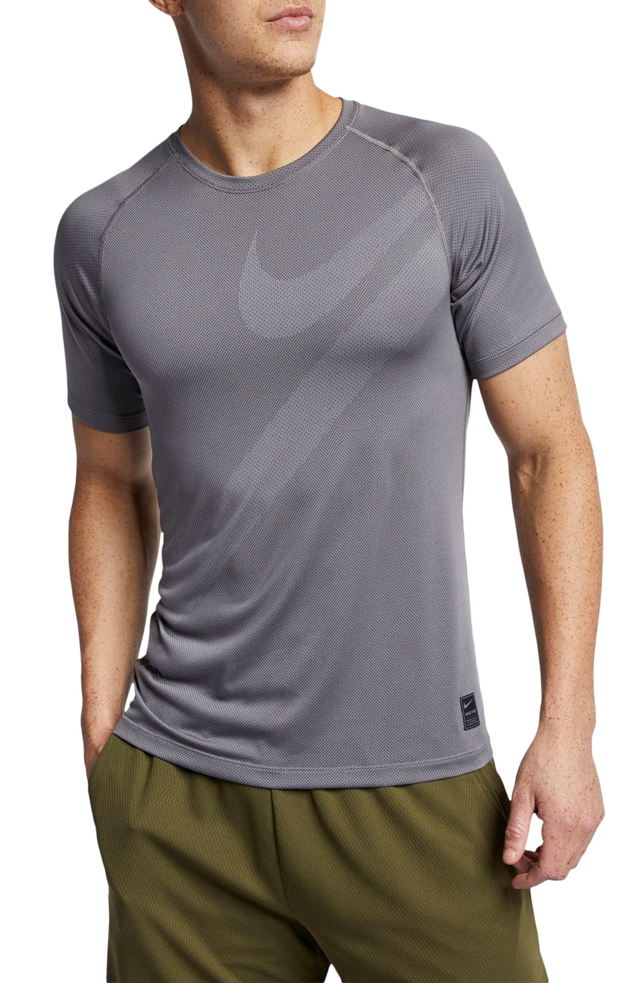 Nike Pro Dri-Fit Perforated T-Shirt Grey