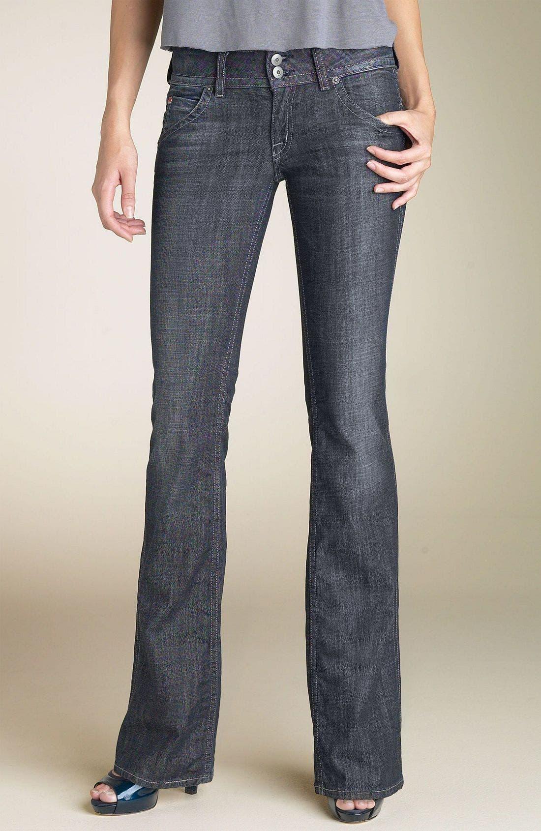 ,                             Signature Flap Pocket Bootcut Jeans,                             Main thumbnail 105, color,                             VDW