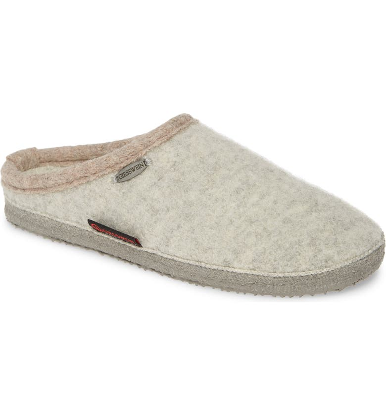 GIESSWEIN Abend Boiled Wool Slipper, Main, color, 030
