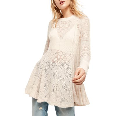Free People Coffee In The Morning Tunic Pullover, Ivory