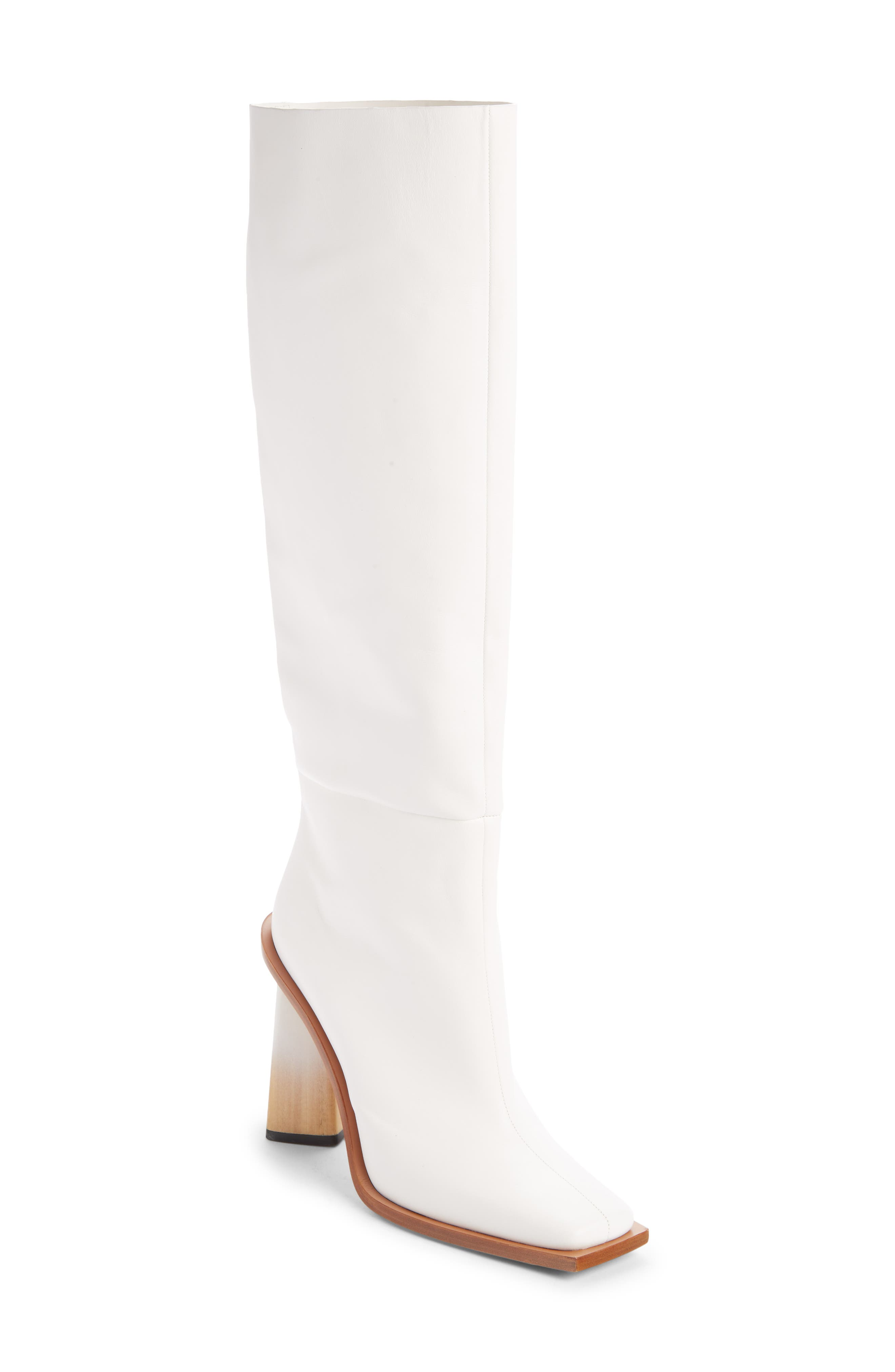 Pre-order this style today! Add to Shopping Bag to view approximate ship date. You\\\'ll be charged only when your item ships. With its blunted square toe and sculptural heel with a striking degrade finish, this chic tall boot in supple calfskin is designed to command attention. Style Name: Givenchy Show Square Toe Tall Boot (Women). Style Number: 6010868. Available in stores.