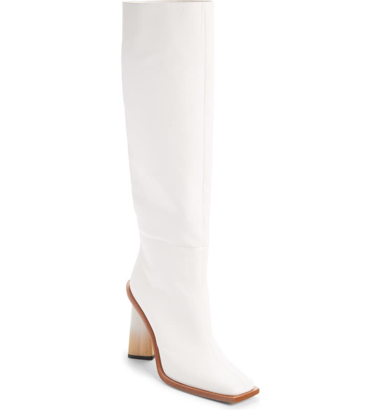GIVENCHY Show Square Toe Tall Boot, Main, color, WHITE