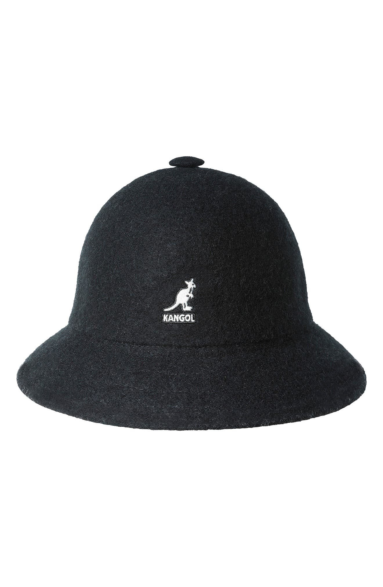 A wool blend perfect for chilly days adds cozy vibes to an iconic bucket cap with logo embroidery adding a signature touch to this \\\'80s hip-hop favorite. Style Name: Kangol Casual Wool Blend Bucket Hat. Style Number: 6099971. Available in stores.