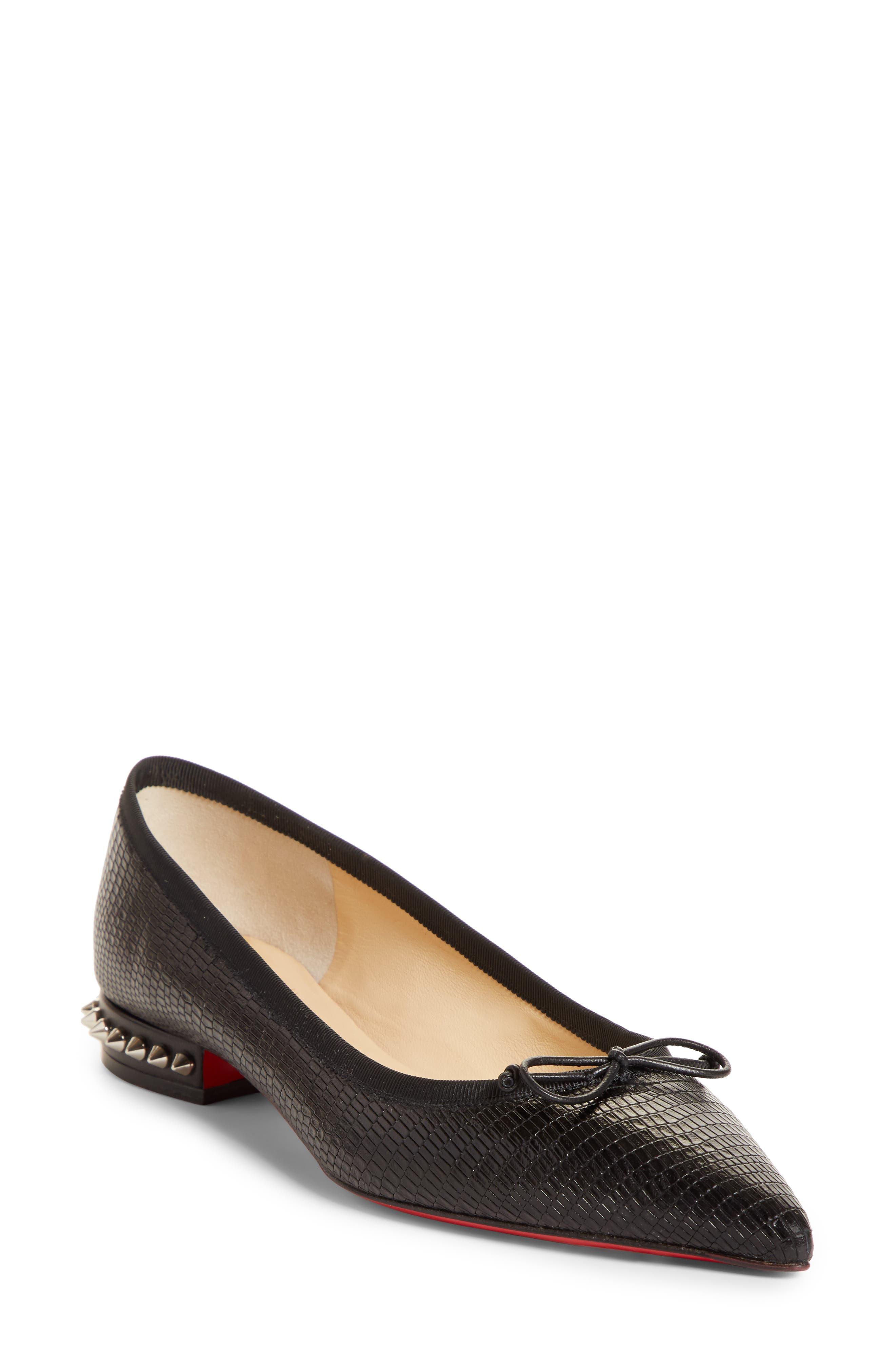 Christian Louboutin Spike Heel Flat, Black
