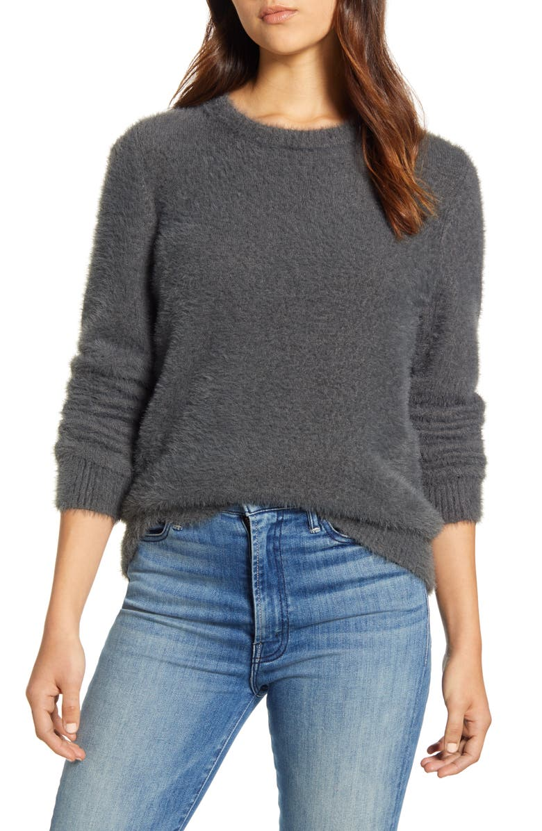 LUCKY BRAND Eyelash Crewneck Sweater, Main, color, 060