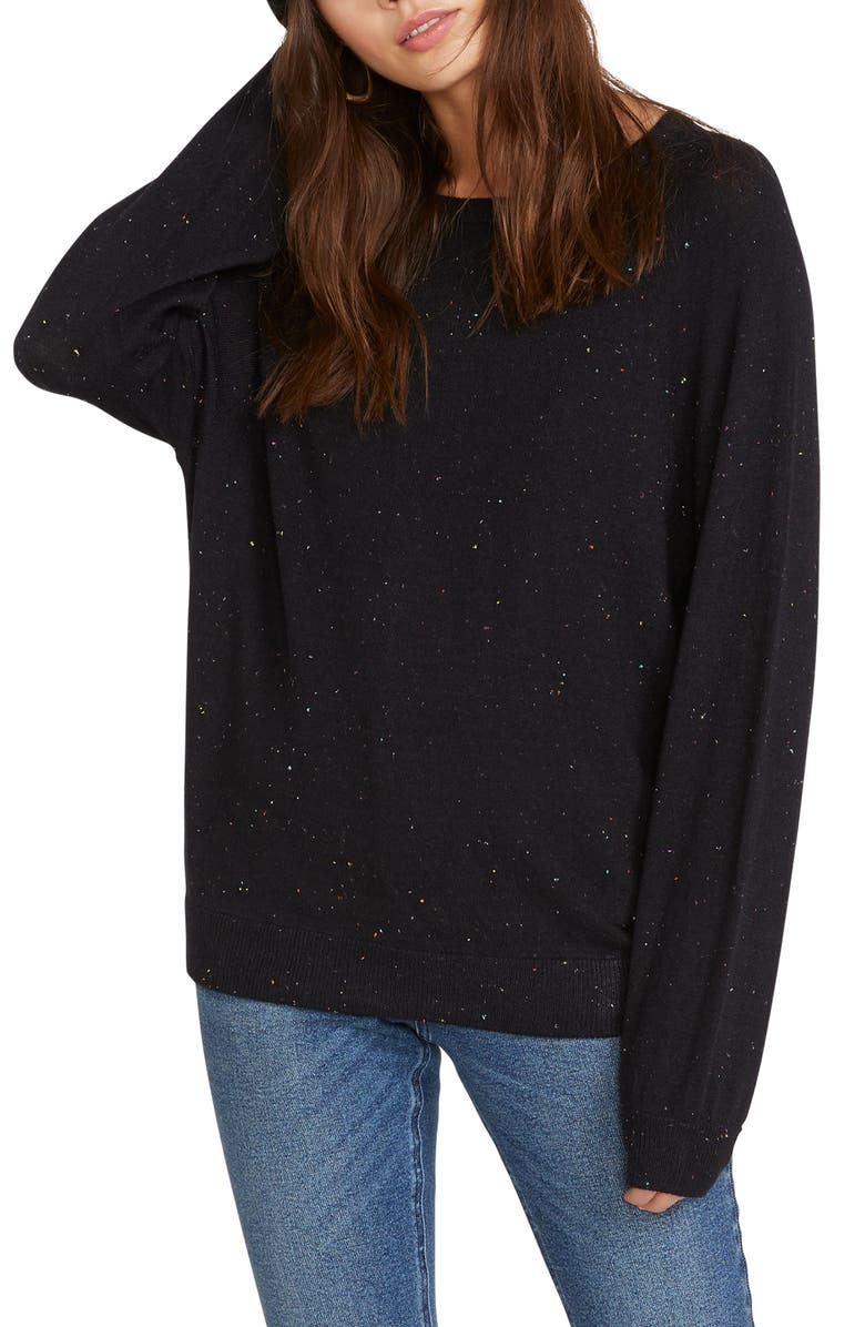 VOLCOM Only Over N Over Sweater, Main, color, BLACK COMBO