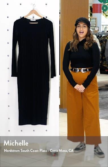 Dillon Ribbed Long Sleeve Midi Dress, sales video thumbnail