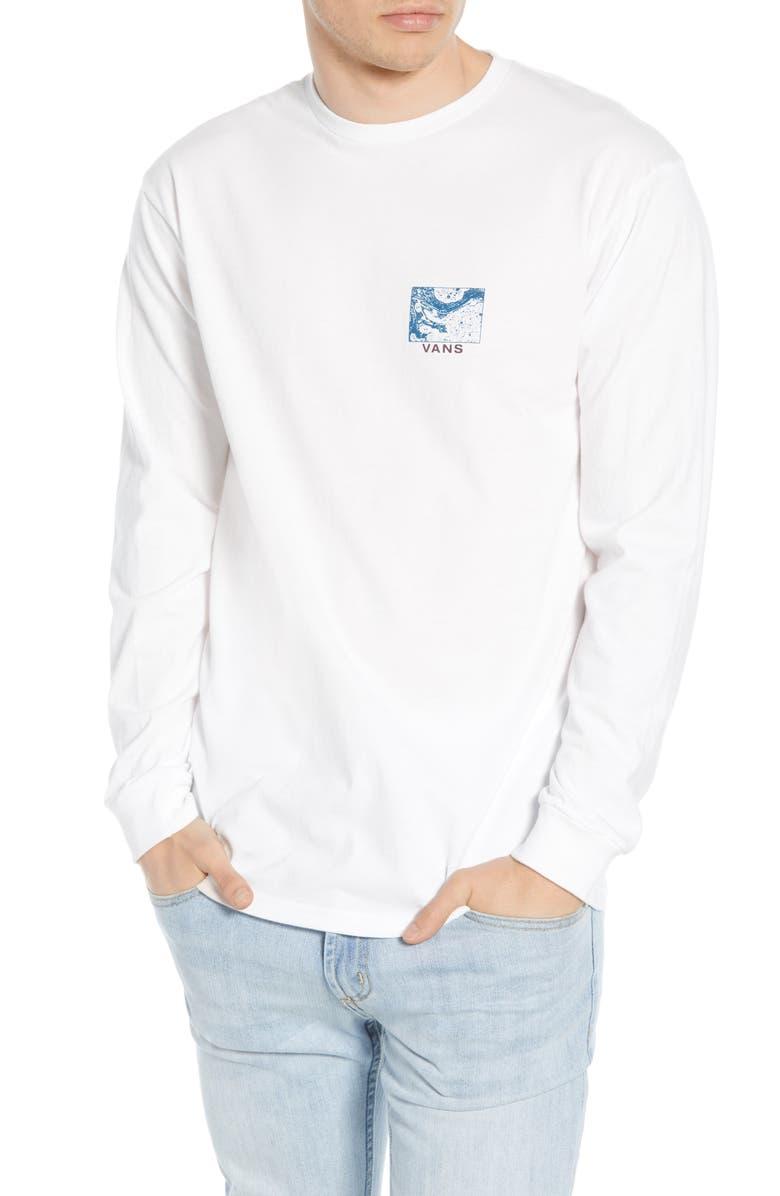 VANS Tide Pools T-Shirt, Main, color, WHITE