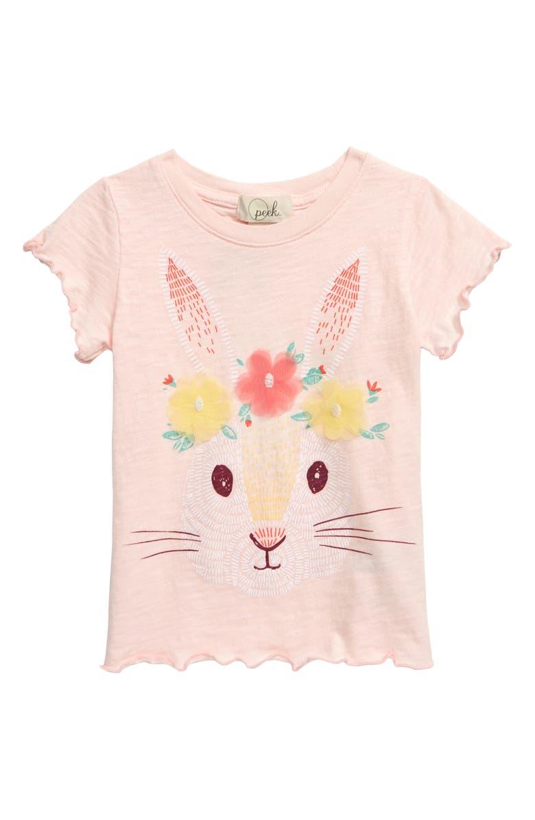 PEEK AREN'T YOU CURIOUS Bunny Graphic Tee, Main, color, PINK