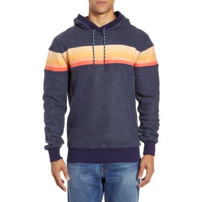 Faherty Gradient Stripe Hoodie Pullover