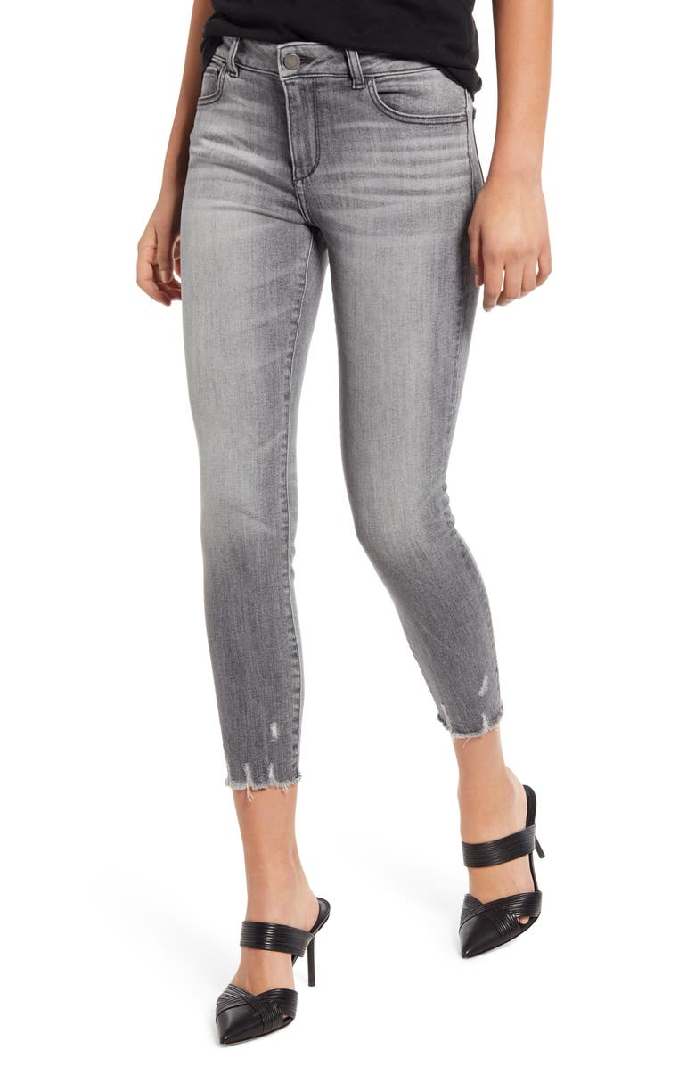 Instasculpt Florence Distressed Crop Skinny Jeans, Main, color, HUNTLEY