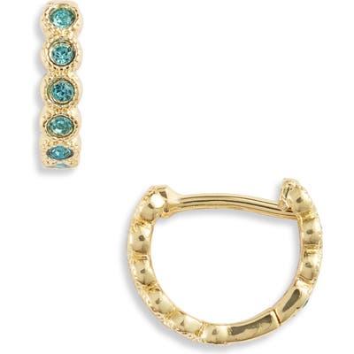 Gorjana Madison Shimmer Huggie Hoop Earrings