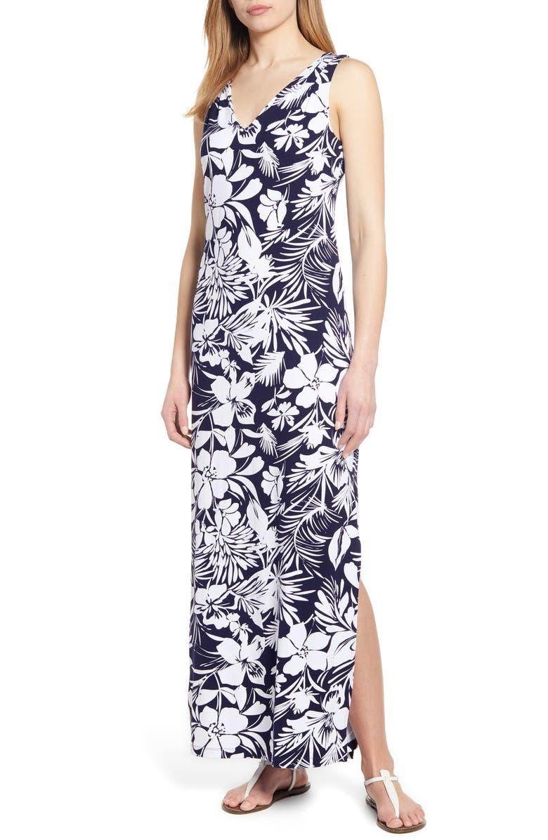 TOMMY BAHAMA Buona Sera Maxi Dress, Main, color, ISLAND NAVY