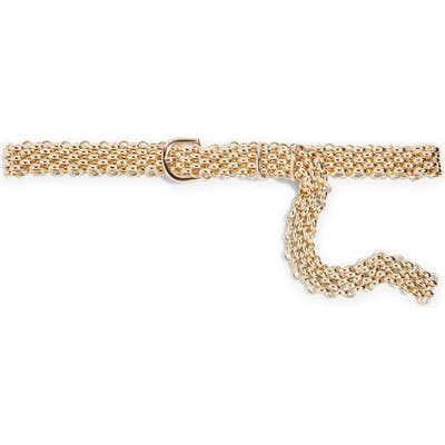 Topshop Chain Link Belt, Gold