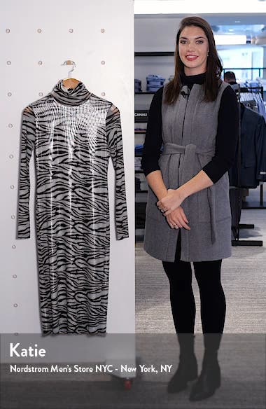 Brae Tiger Stripe Long Sleeve Midi Dress, sales video thumbnail
