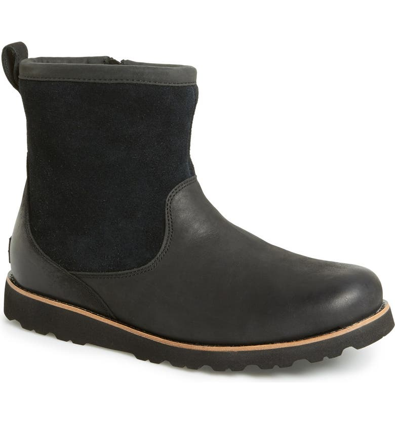 UGG<SUP>®</SUP> Hendren TL Waterproof Zip Boot, Main, color, BLACK