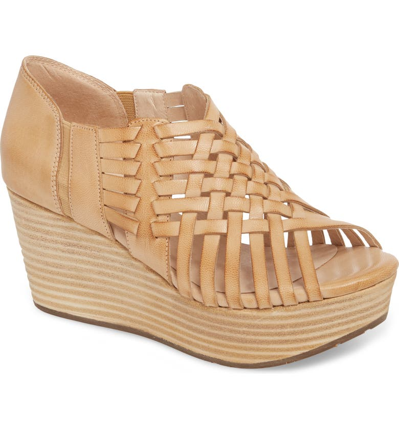 CHOCOLAT BLU Woody Wedge Sandal, Main, color, CAMEL LEATHER