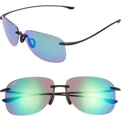 Maui Jim Hikina 62Mm Polarizedplus2 Rimless Sunglasses - Maui Green/ Matte Black