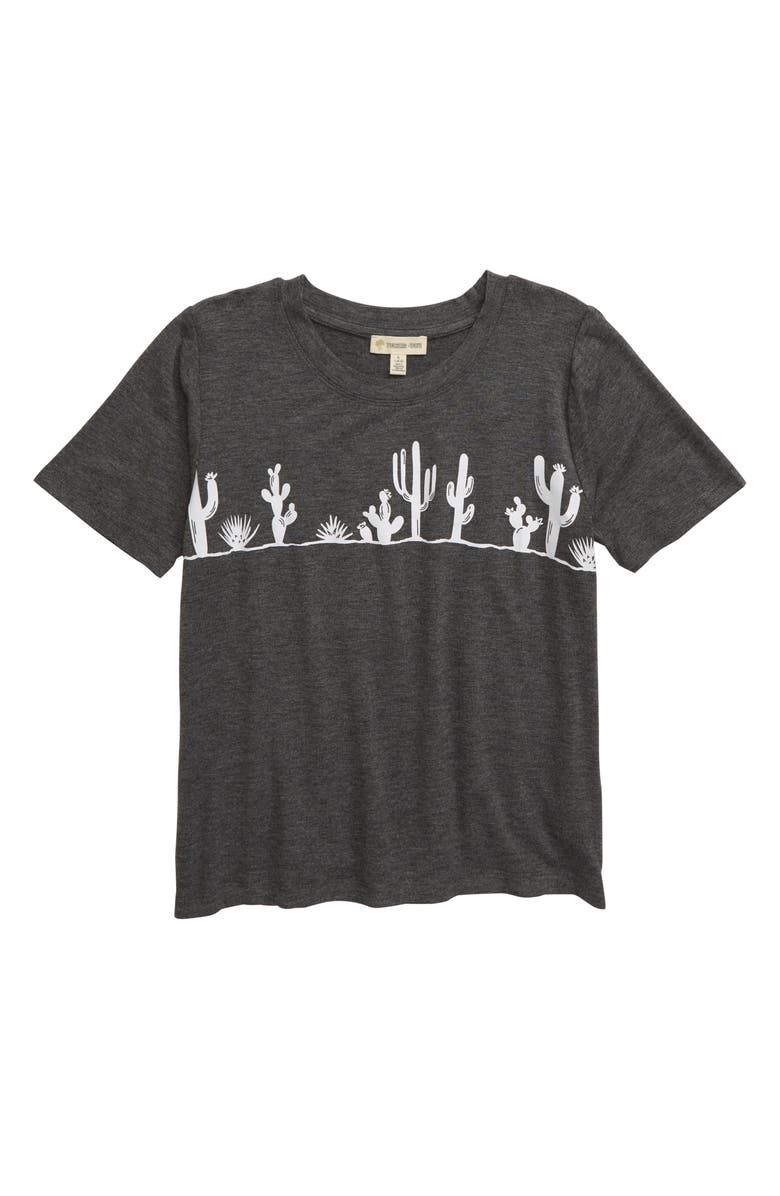 TUCKER + TATE Graphic Tee, Main, color, GREY CHARCOAL HEATHER MIRAGE