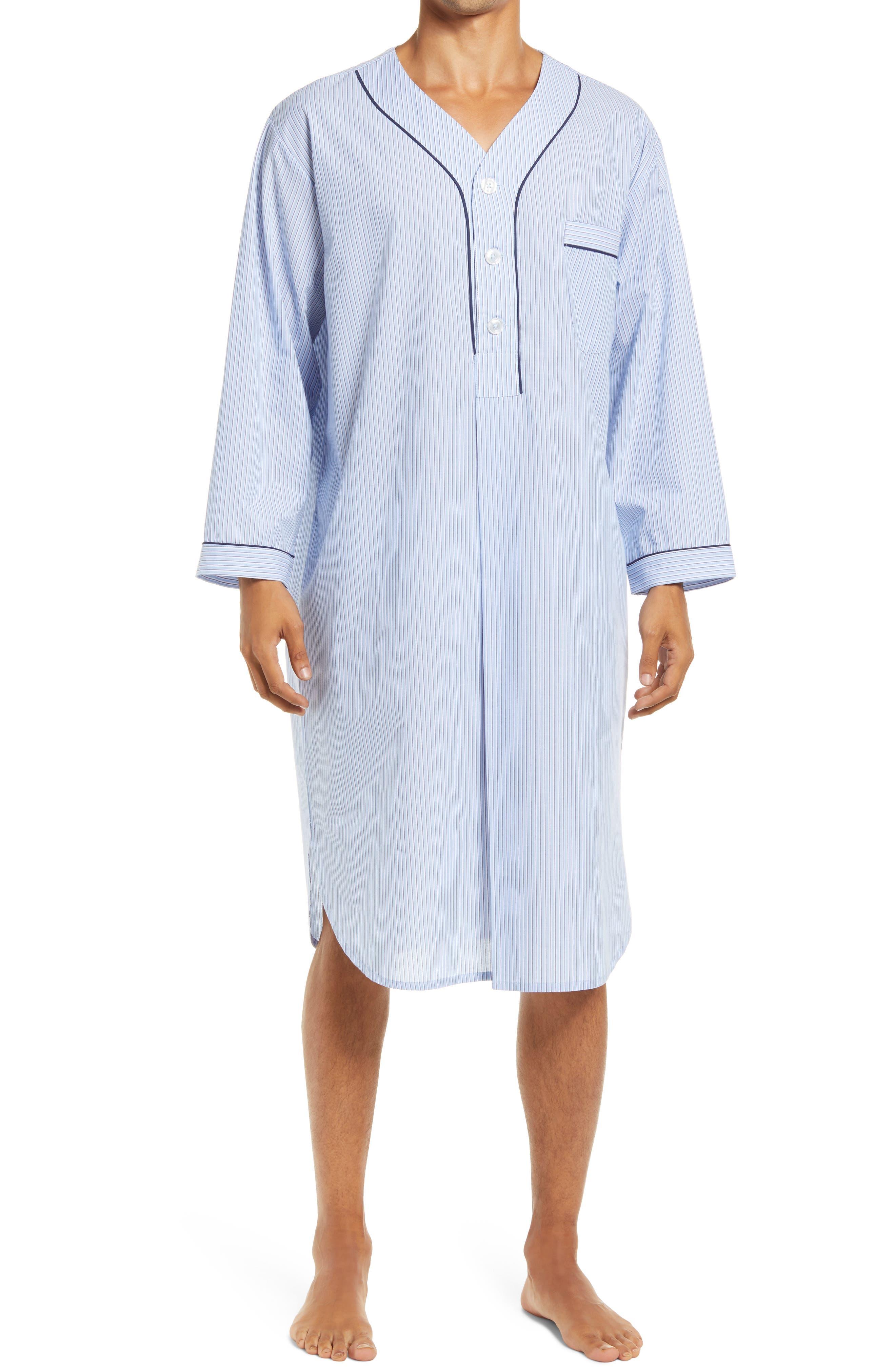 Vintage Men's Underwear Mens Majestic International Pack Well Easy Care Nightshirt $55.00 AT vintagedancer.com