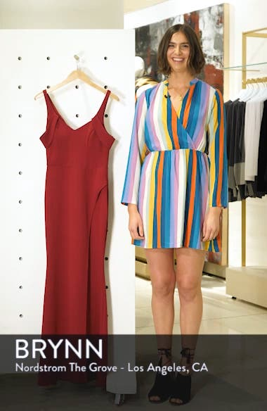 Scuba Crepe Cold Shoulder Evening Dress, sales video thumbnail
