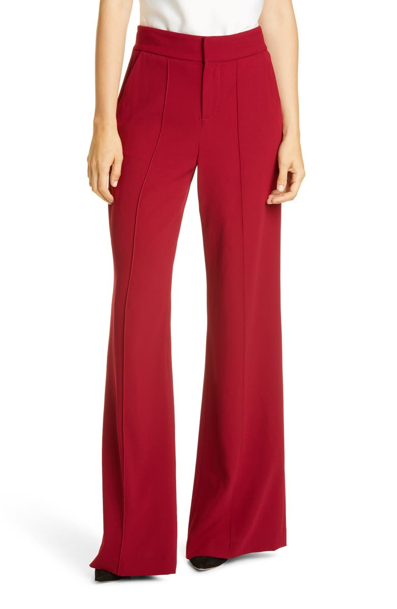 ALICE + OLIVIA Dylan High Waist Wide Leg Pants, Main, color, 930