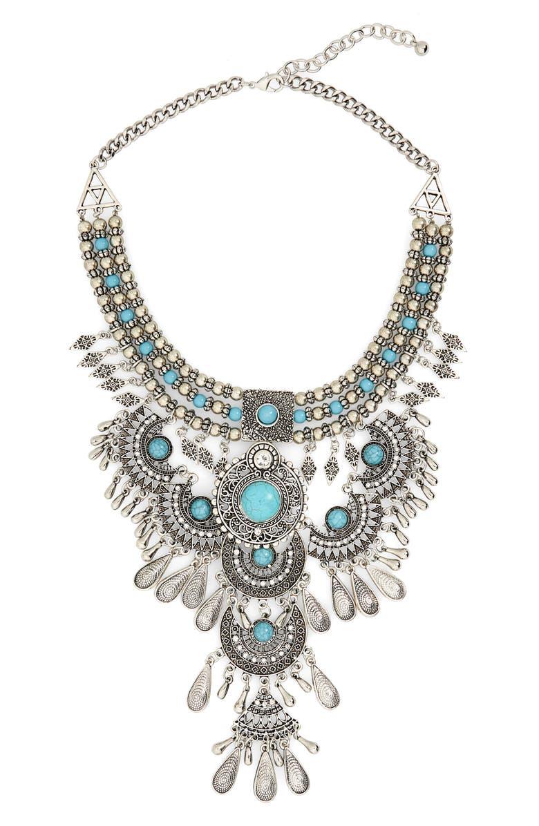 BP. Western Bib Necklace, Main, color, 040