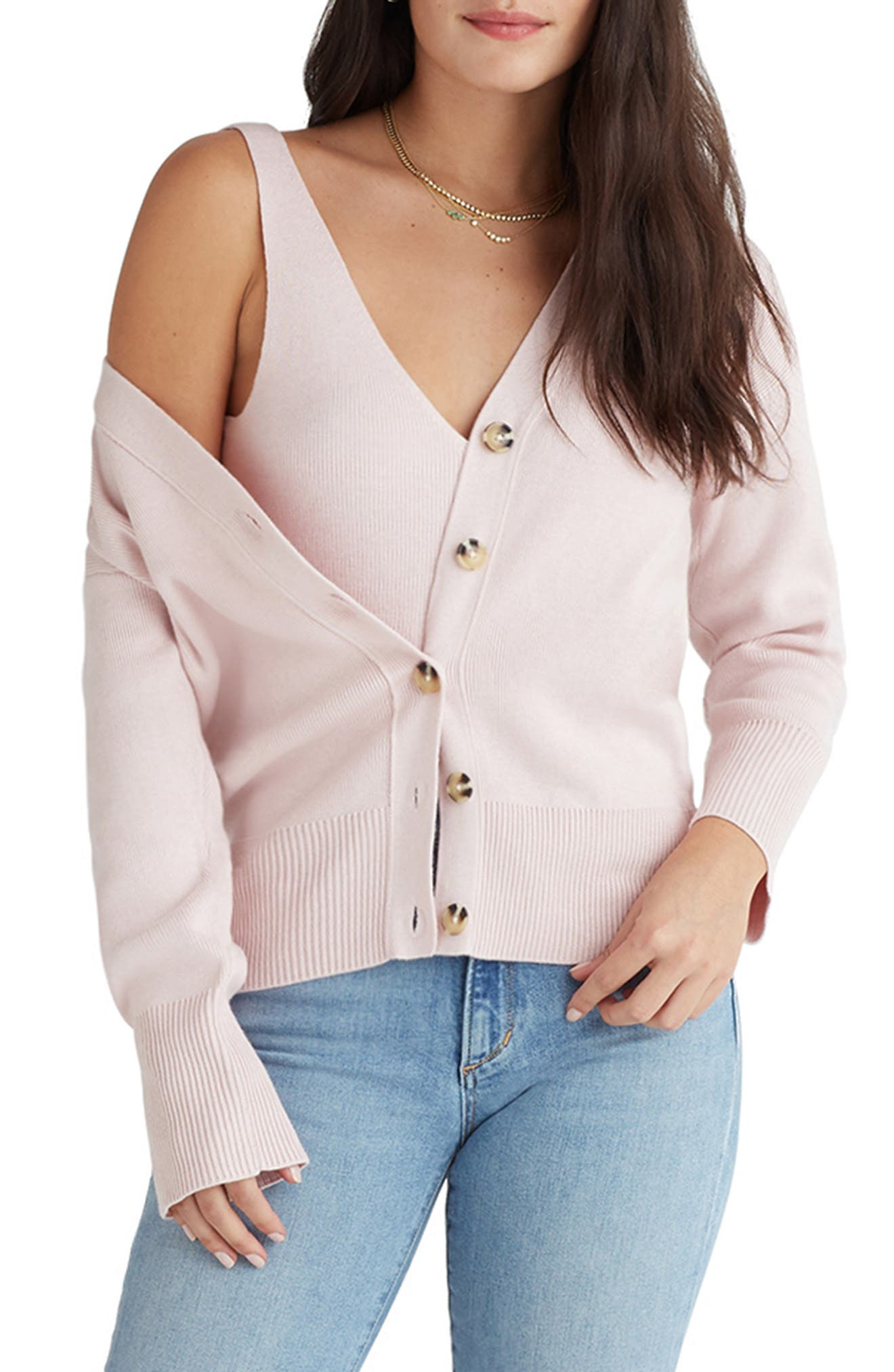 Cotton & Cashmere V-Neck Cardigan